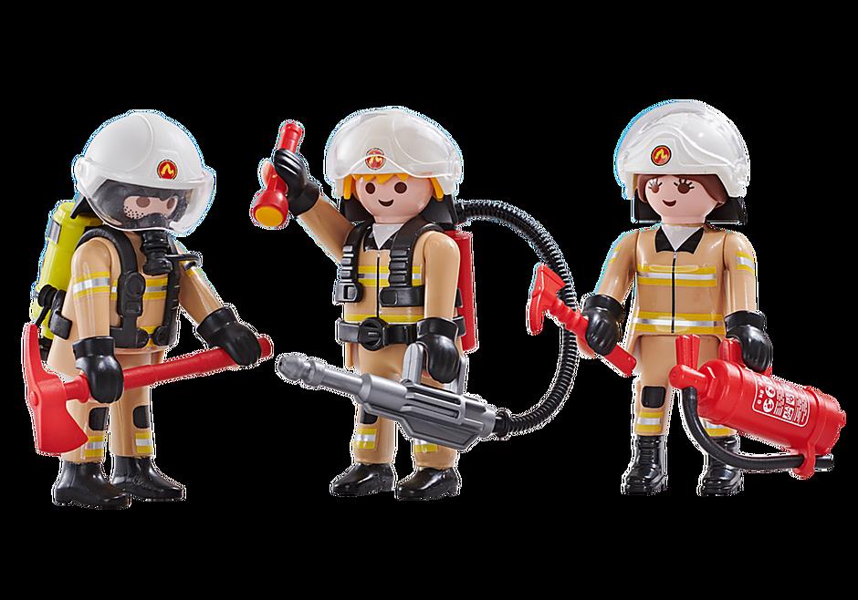 6584 3 brandweerlieden ploeg A detail image 1