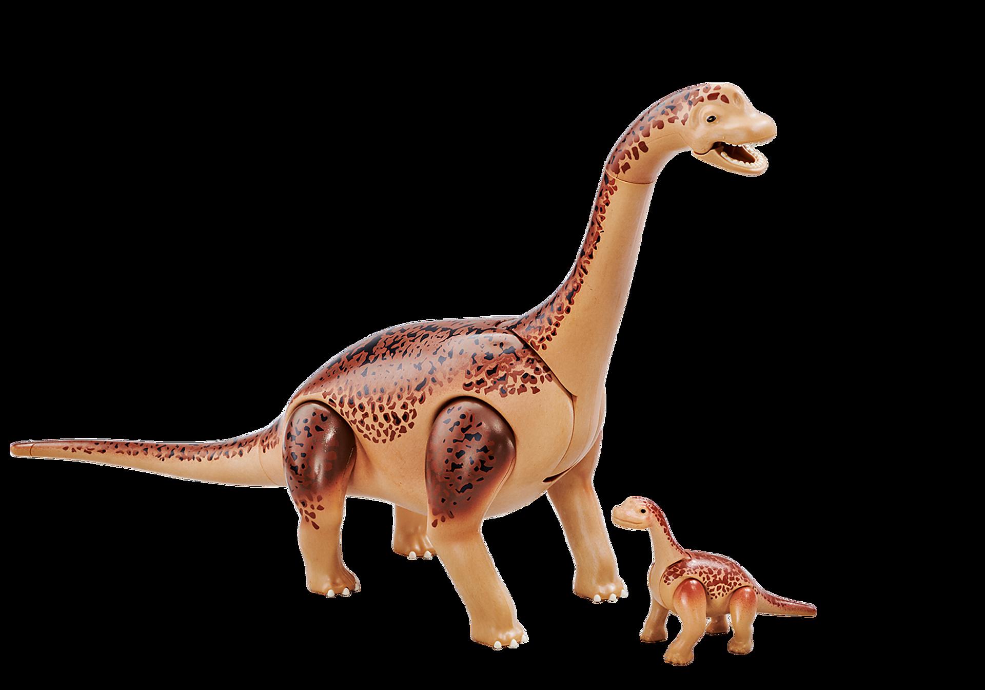 6595 Brachiosauro con cucciolo zoom image1