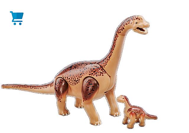 6595_product_detail/Brachiosauro con cucciolo