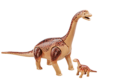 6595 Brachiosaurus with baby