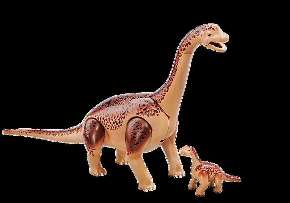 6595 Brachiosaurus with baby detail image 1