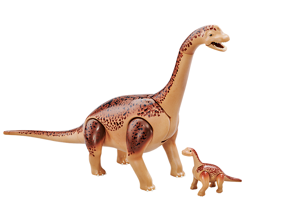 6595 Brachiosaurus with baby detail image 1