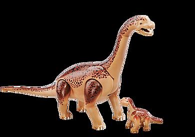 6595 Brachiozaur z młodym dinozaurem