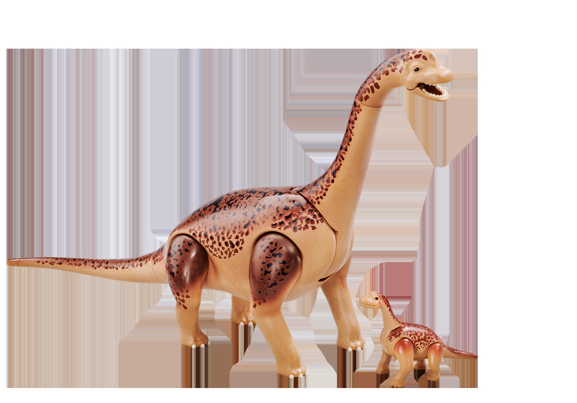6595_product_detail/Brachiozaur z młodym dinozaurem