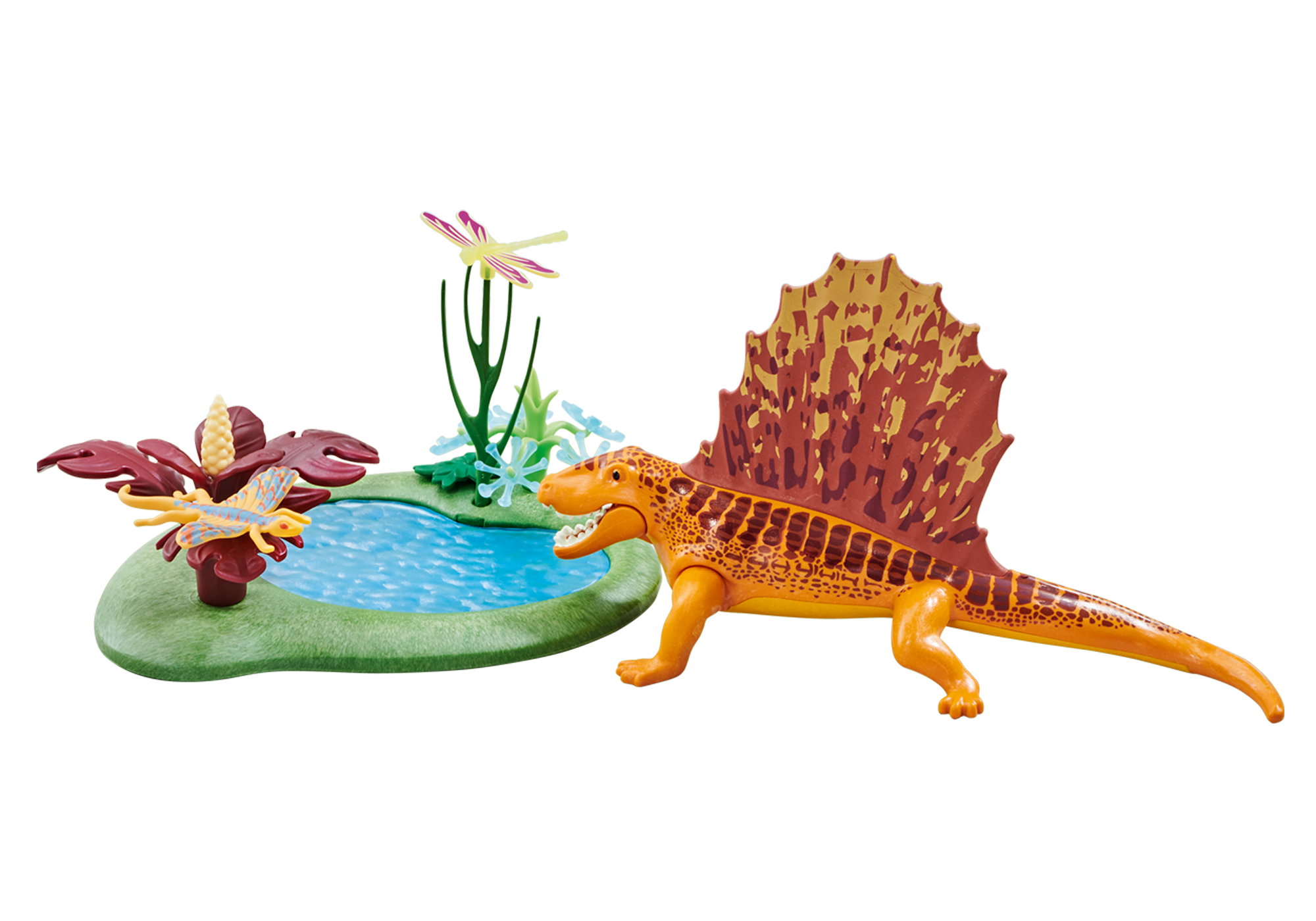 6596_product_detail/Dimetrodon with Pond