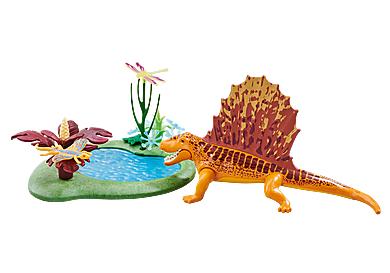 6596 Dimetrodon with Pond