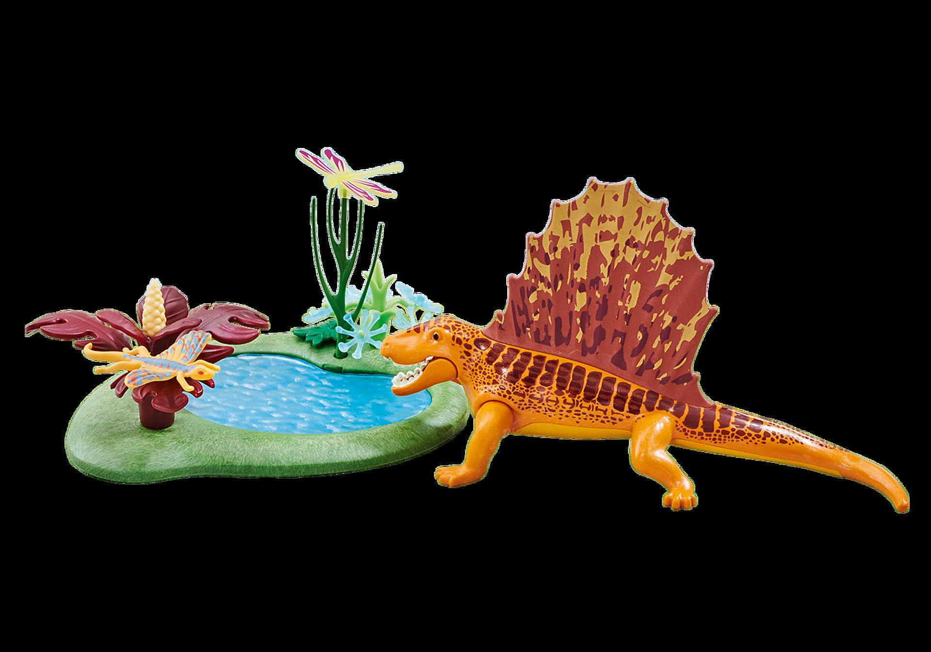 6596 Dimetrodon with Pond zoom image1
