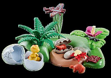 6597_product_detail/Nido di dinosauro con uova