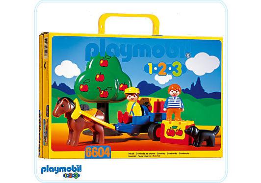 6604-A fermier/enfant/charrette detail image 1
