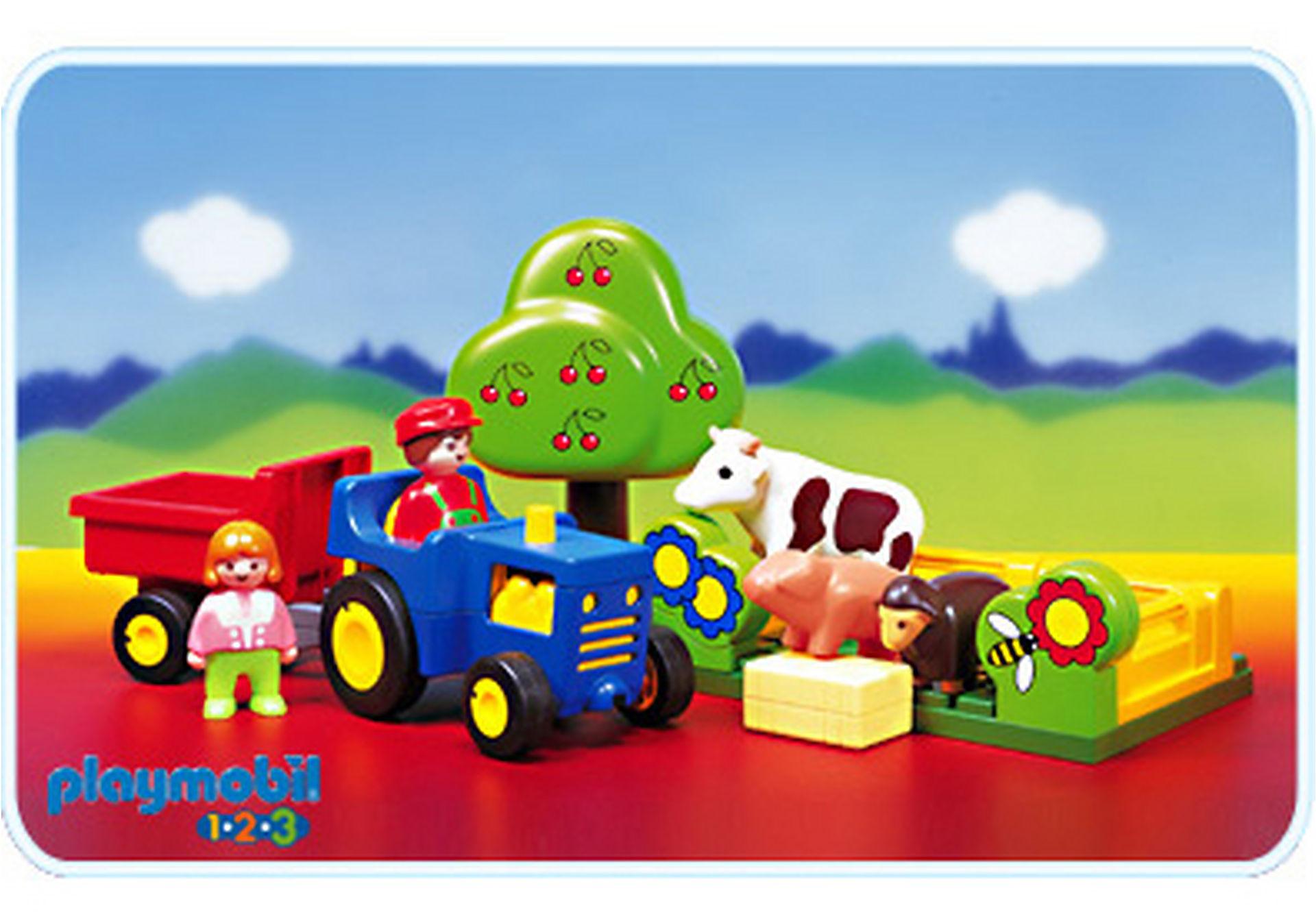 6605-A Fermier/animaux/tracteur zoom image1