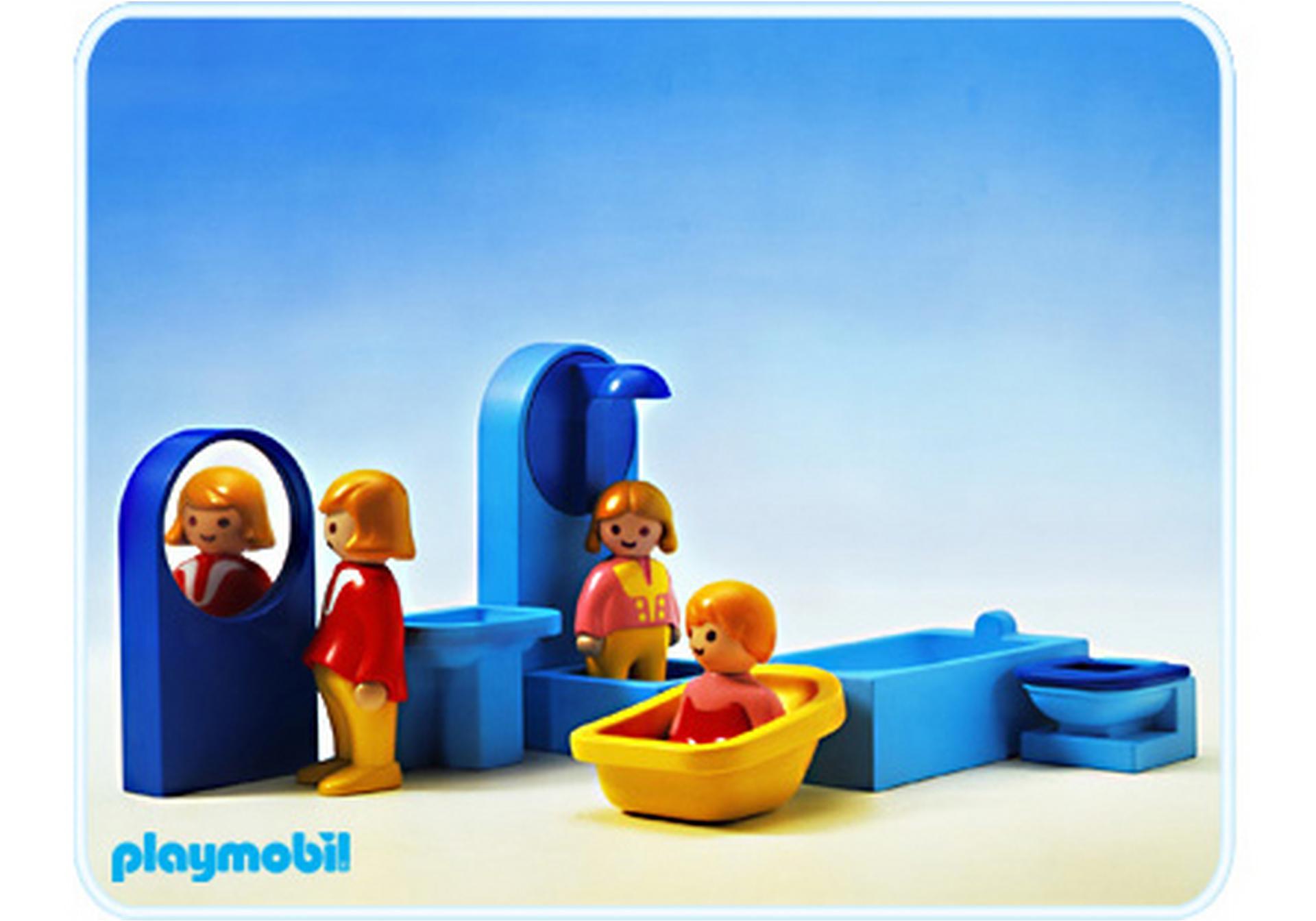 Salle de bain 1 2 3 6614 a playmobil france for Salle bain playmobil
