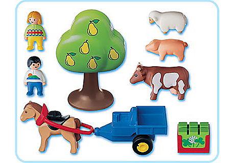6620-A Enfants / charrette / animaux 1.2 .3 detail image 2