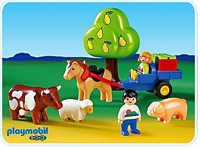6620-A Enfants / charrette / animaux 1.2 .3 detail image 1