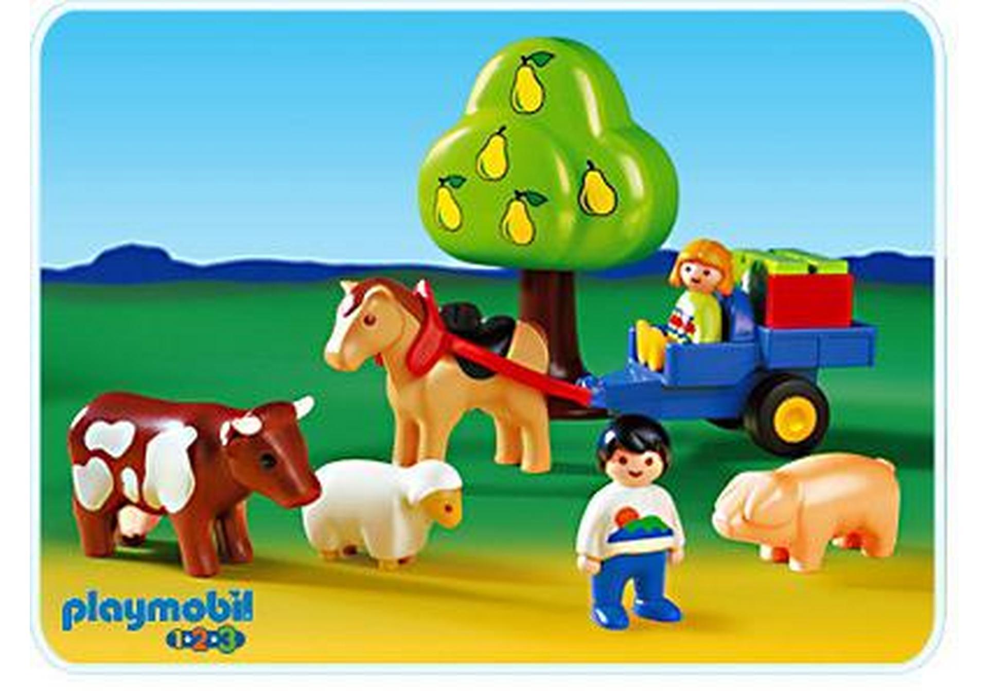 enfants charrette animaux 1 2 3 6620 a playmobil france. Black Bedroom Furniture Sets. Home Design Ideas