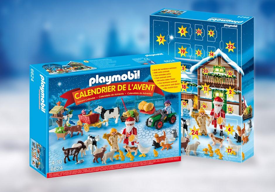 calendrier de l 39 avent p re no l la ferme 6624 playmobil france. Black Bedroom Furniture Sets. Home Design Ideas