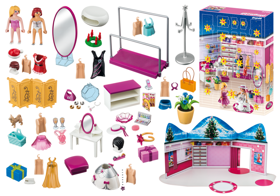 calendrier de l 39 avent loge d 39 artiste 6626 playmobil. Black Bedroom Furniture Sets. Home Design Ideas
