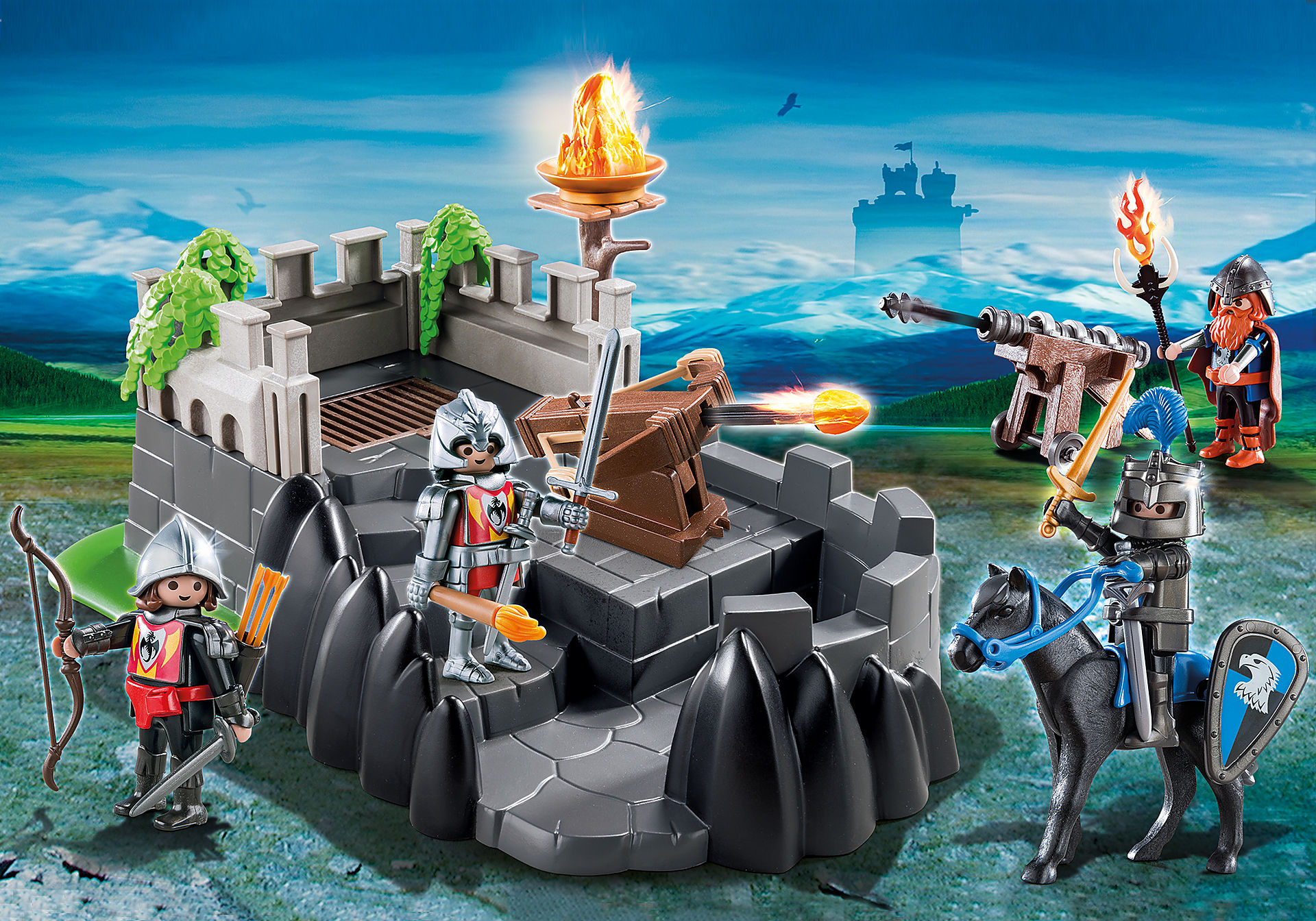 http://media.playmobil.com/i/playmobil/6627_product_detail/Καταφύγιο ιπποτών δράκου
