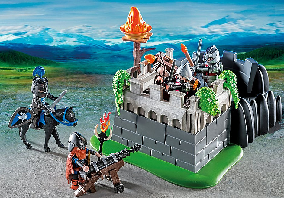 http://media.playmobil.com/i/playmobil/6627_product_extra2/Καταφύγιο ιπποτών δράκου