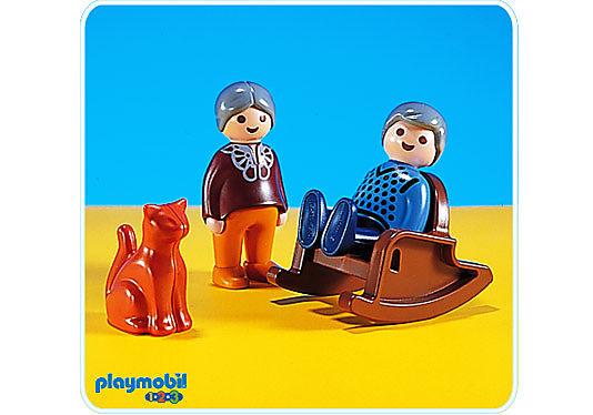 6631-A Rocking chair/gd.mère/gd.père detail image 1