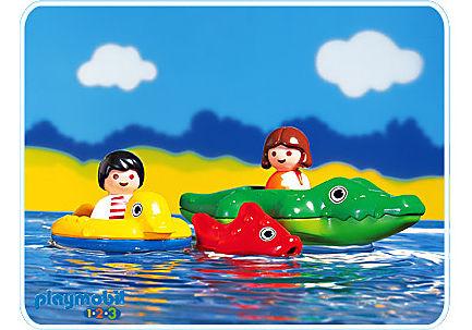 6633-A Enfants/bateau crocodile detail image 1