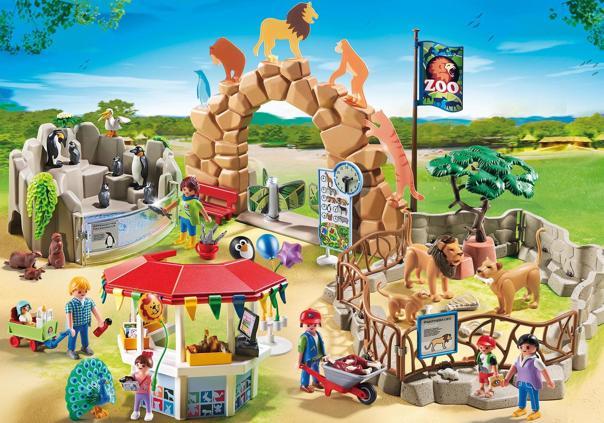 grand zoo 6634 playmobil france. Black Bedroom Furniture Sets. Home Design Ideas