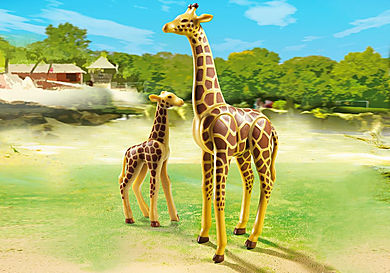 6640_product_detail/Giraffe with Calf