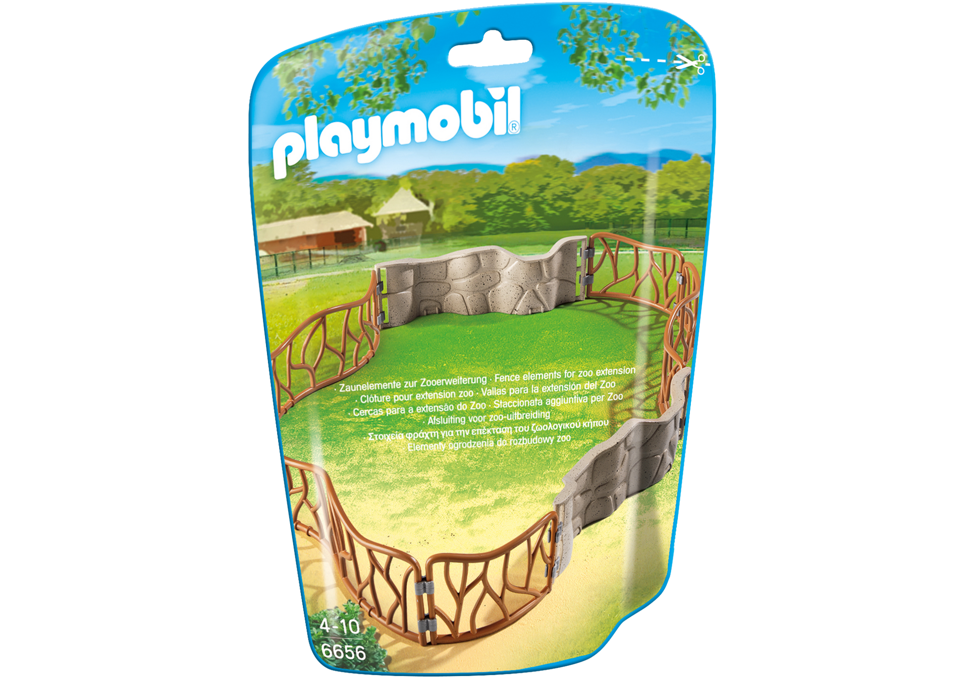 enclos pour animaux du zoo 6656 playmobil france. Black Bedroom Furniture Sets. Home Design Ideas