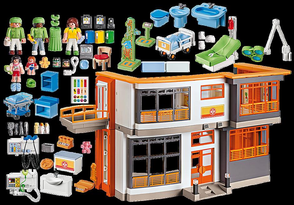 http://media.playmobil.com/i/playmobil/6657_product_box_back/Compleet ingericht kinderziekenhuis