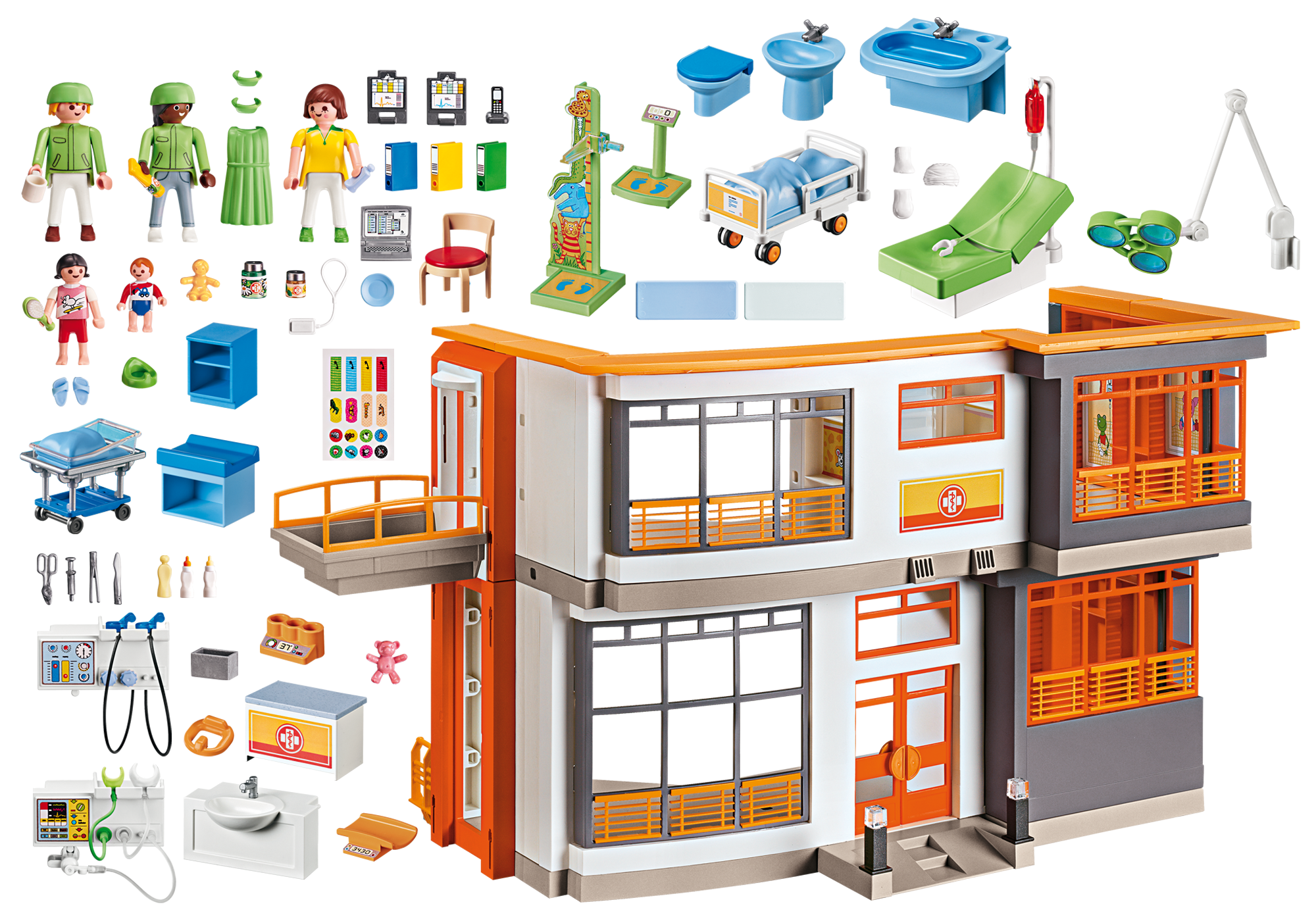 http://media.playmobil.com/i/playmobil/6657_product_box_back/Furnished Children's Hospital