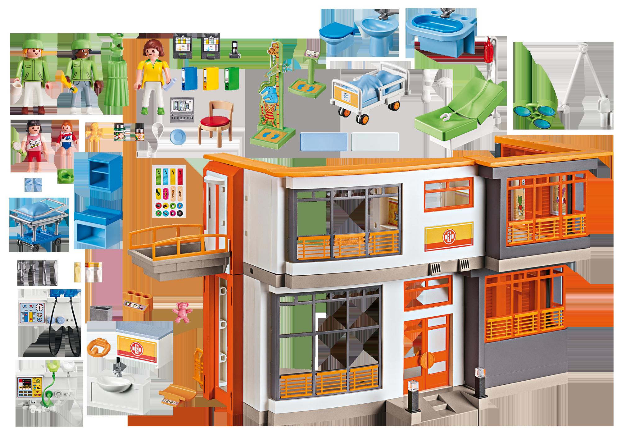 http://media.playmobil.com/i/playmobil/6657_product_box_back/Furnished Children's Hospital