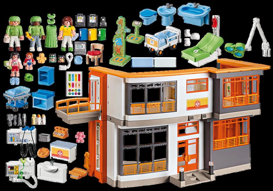 Furnished Childrens Hospital 6657 Playmobil Usa