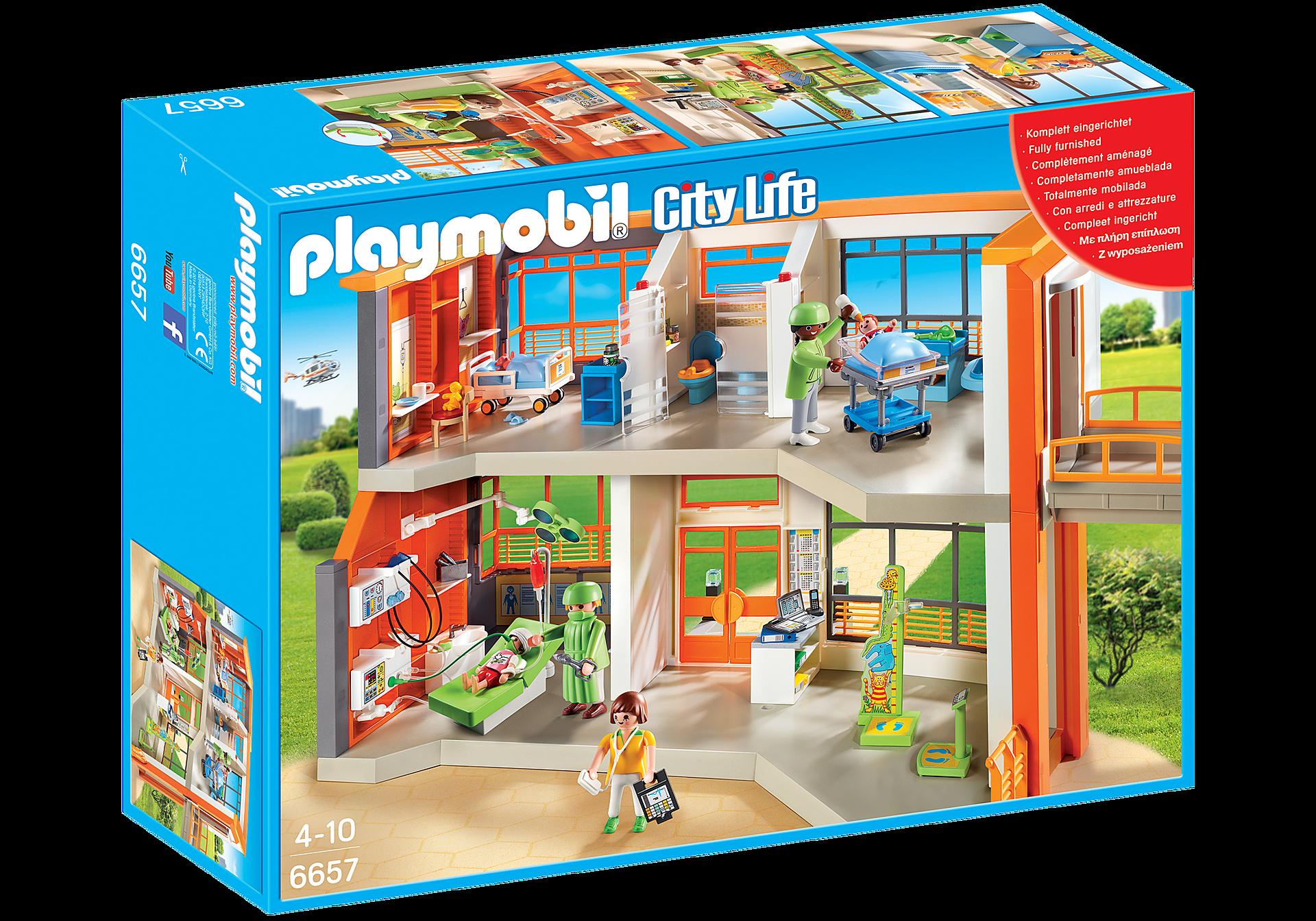 http://media.playmobil.com/i/playmobil/6657_product_box_front/Compleet ingericht kinderziekenhuis