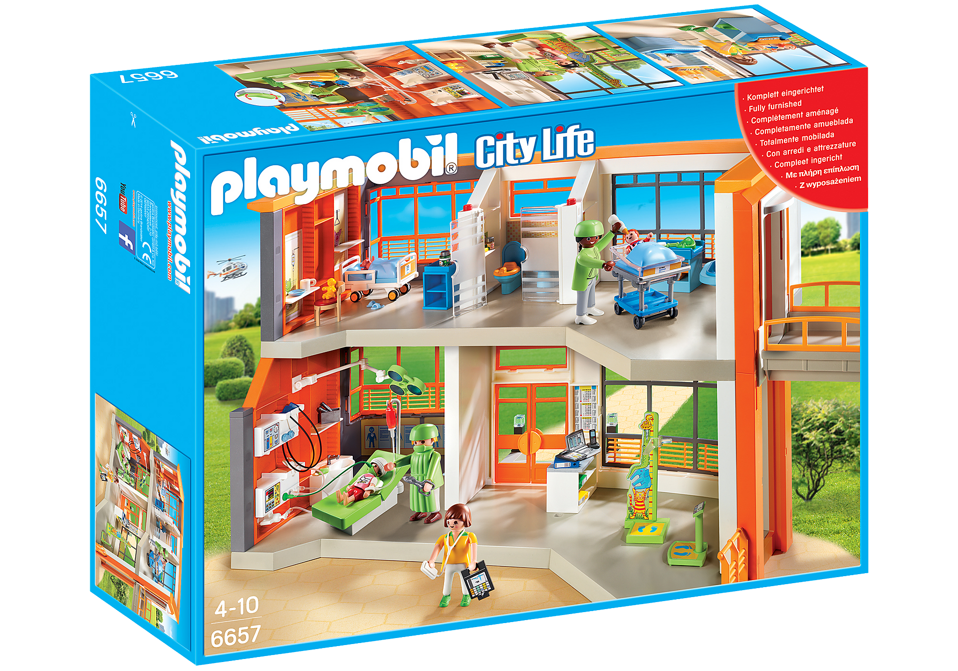 http://media.playmobil.com/i/playmobil/6657_product_box_front/Furnished Children's Hospital