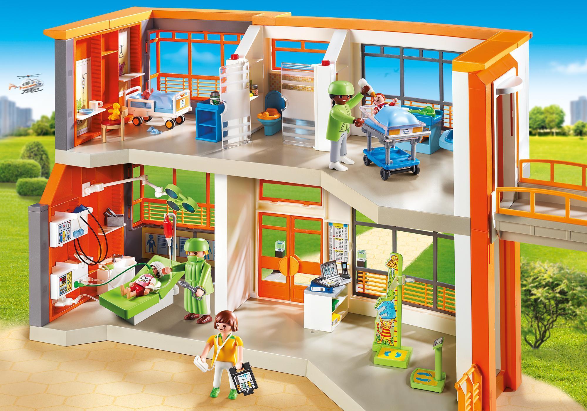 http://media.playmobil.com/i/playmobil/6657_product_detail/Hôpital pédiatrique aménagé