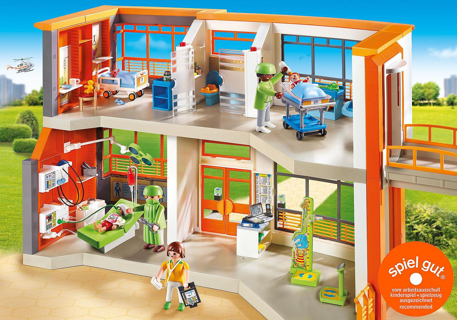 http://media.playmobil.com/i/playmobil/6657_product_detail/Kinderklinik mit Einrichtung