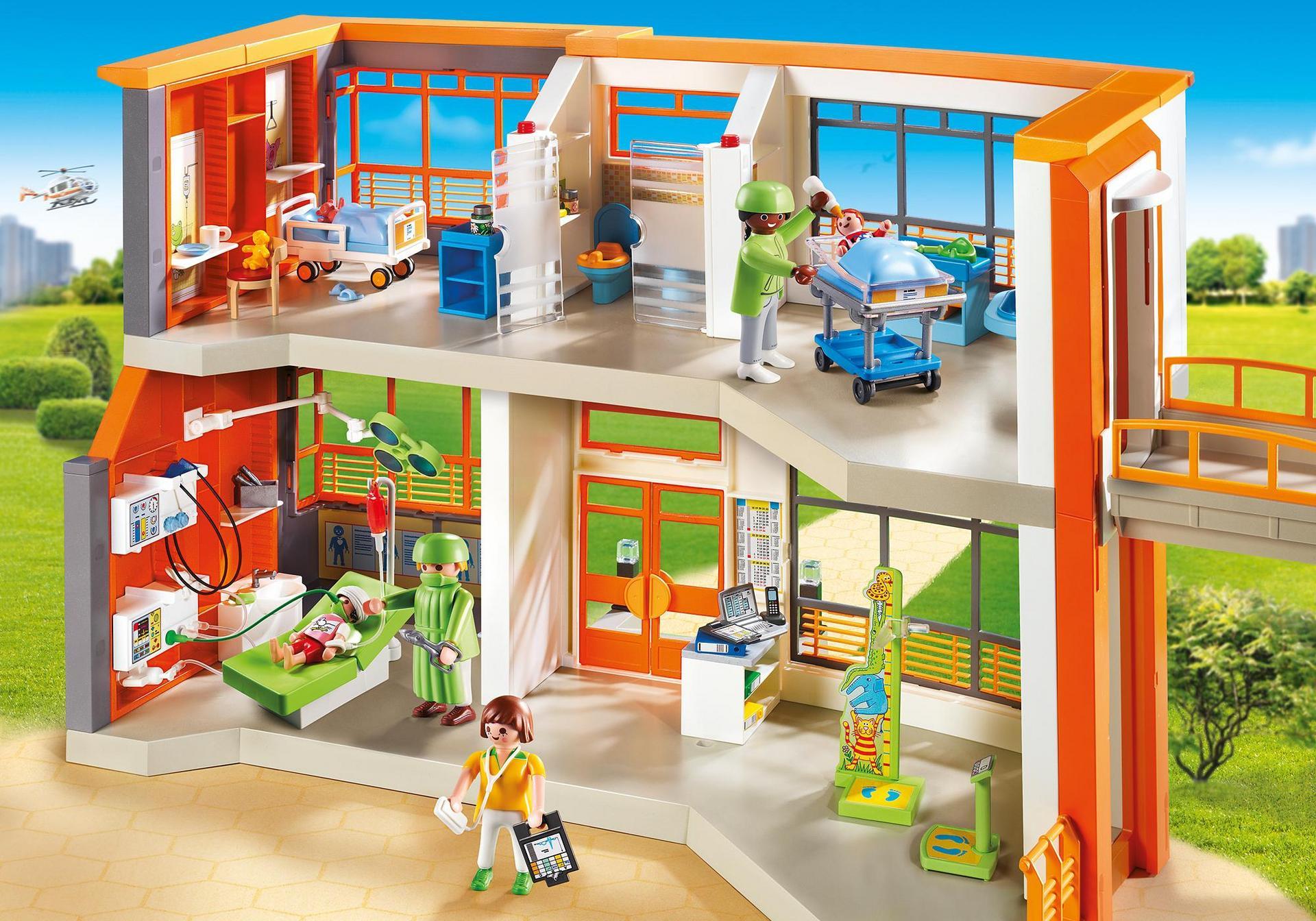 Compleet ingericht kinderziekenhuis 6657 playmobil for Playmobil 6445