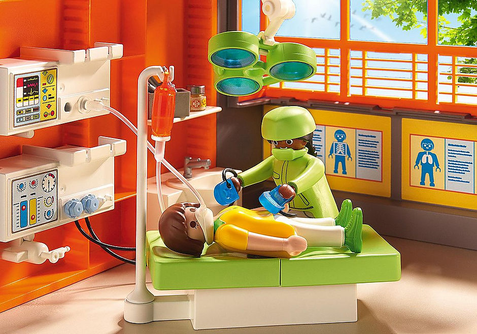 http://media.playmobil.com/i/playmobil/6657_product_extra1/Szpital dziecięcy z wyposażeniem