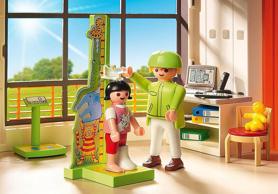 http://media.playmobil.com/i/playmobil/6657_product_extra2/Compleet ingericht kinderziekenhuis