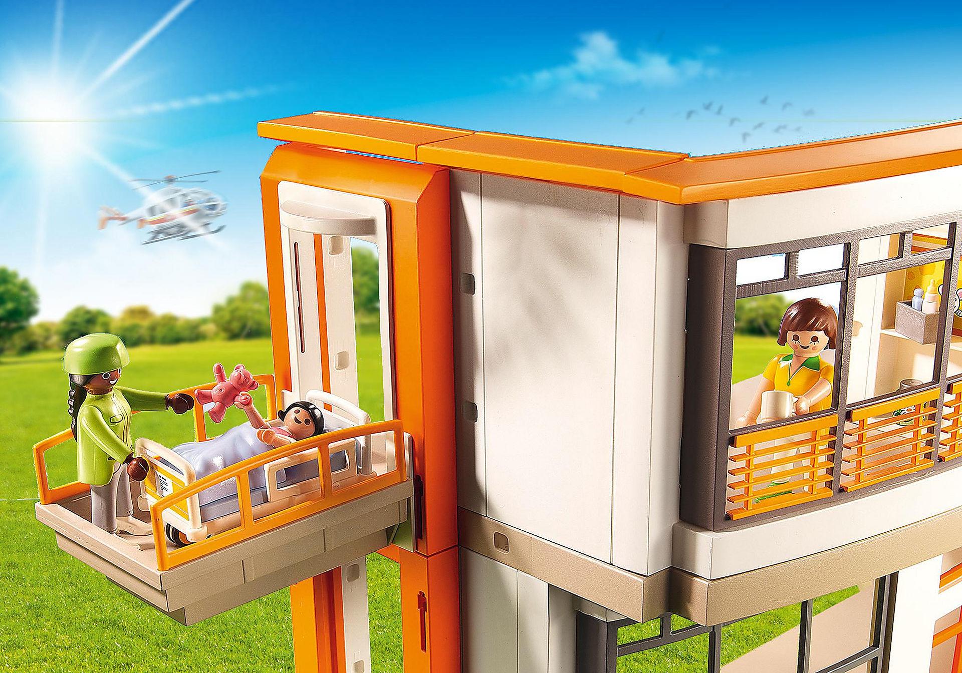 http://media.playmobil.com/i/playmobil/6657_product_extra4/Compleet ingericht kinderziekenhuis