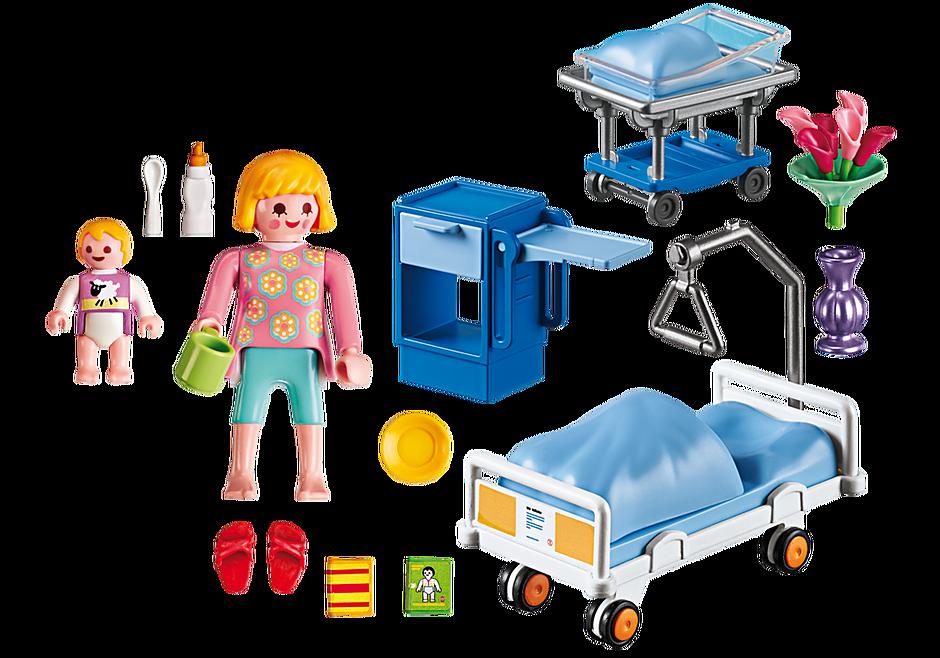 http://media.playmobil.com/i/playmobil/6660_product_box_back/Sala chorych z łóżkiem dla niemowlaka