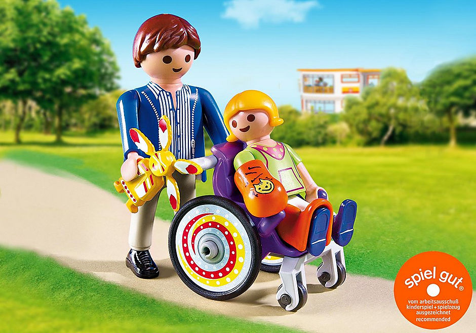 http://media.playmobil.com/i/playmobil/6663_product_detail/Kind im Rollstuhl