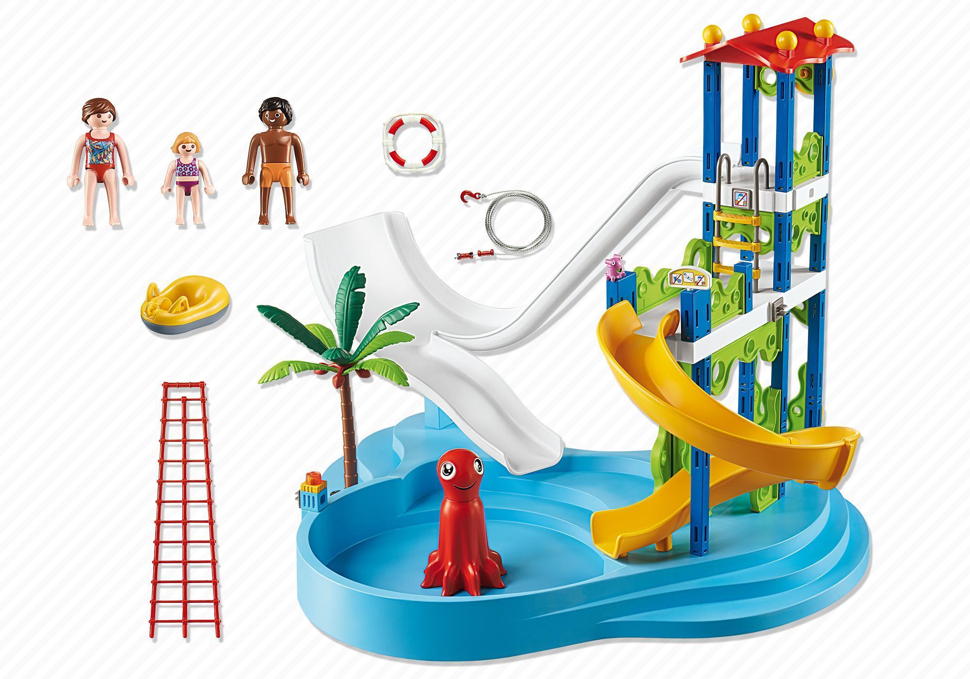 http://media.playmobil.com/i/playmobil/6669_product_box_back/Parque Acuático con Toboganes