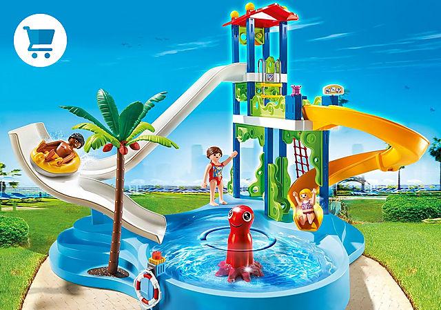 6669_product_detail/Parc aquatique avec toboggans géants