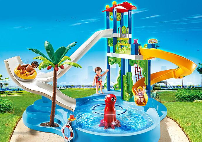 6669 Torre degli scivoli con piscina
