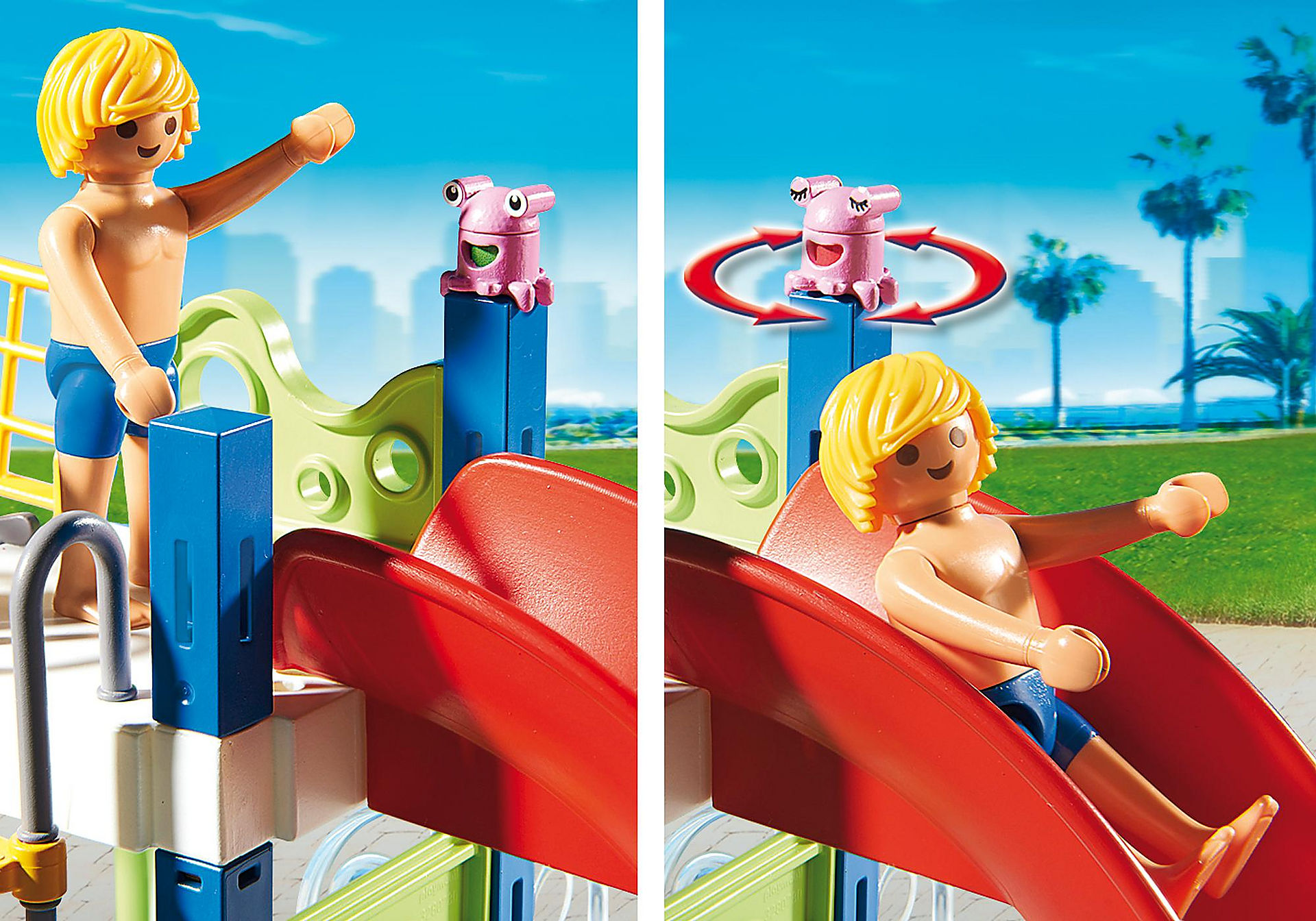http://media.playmobil.com/i/playmobil/6670_product_extra2/Área de Brincadeiras Aquáticas