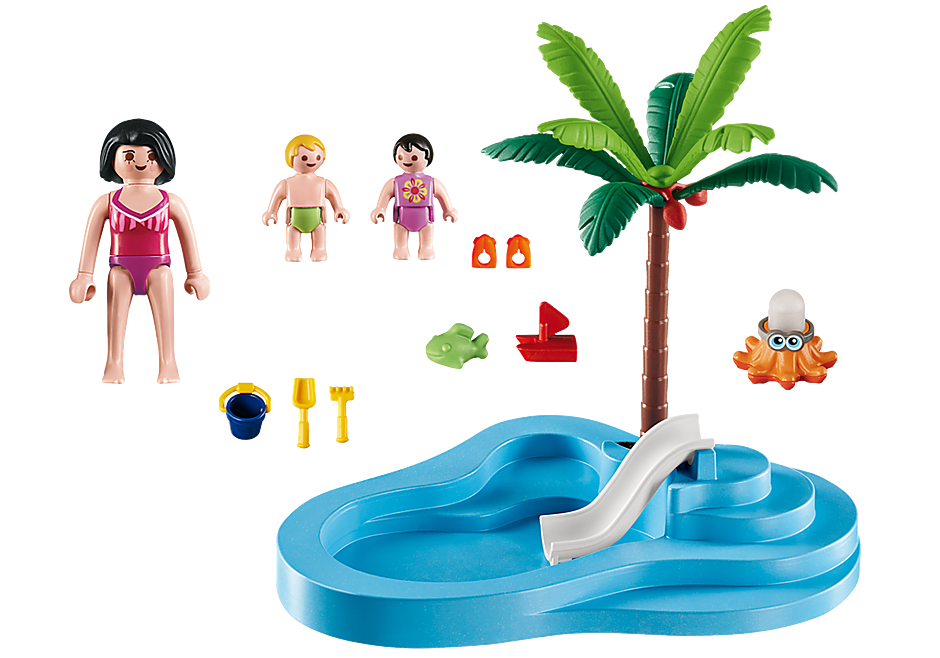 6673 Kinderbad met glijbaan detail image 3