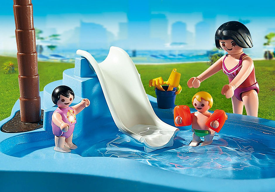 6673 Piscina pentru copii cu tobogan detail image 4