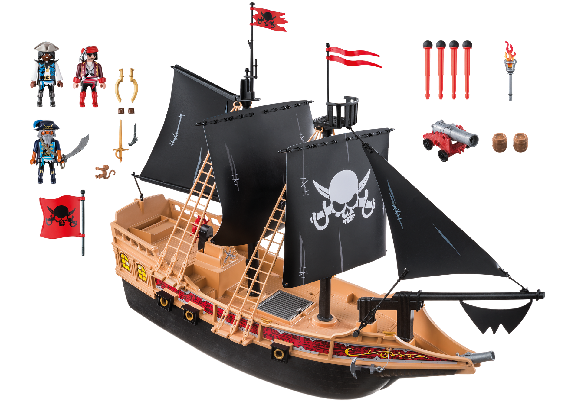 bateau pirates des t n bres 6678 playmobil france. Black Bedroom Furniture Sets. Home Design Ideas