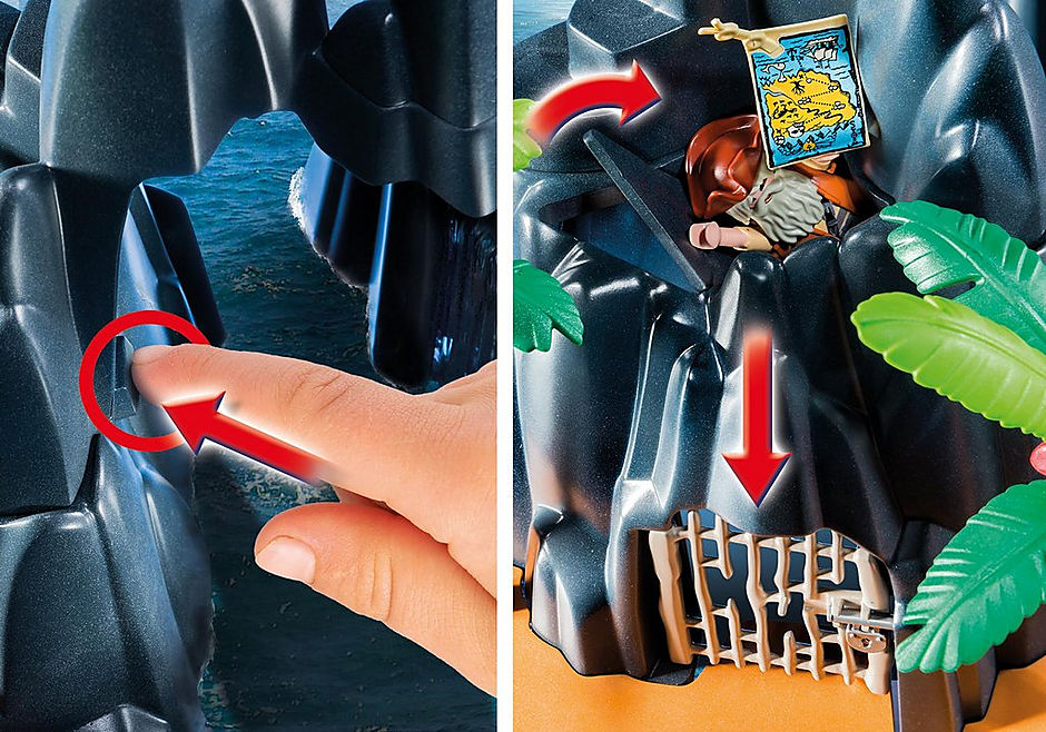 6679 Pirate Treasure Island detail image 6