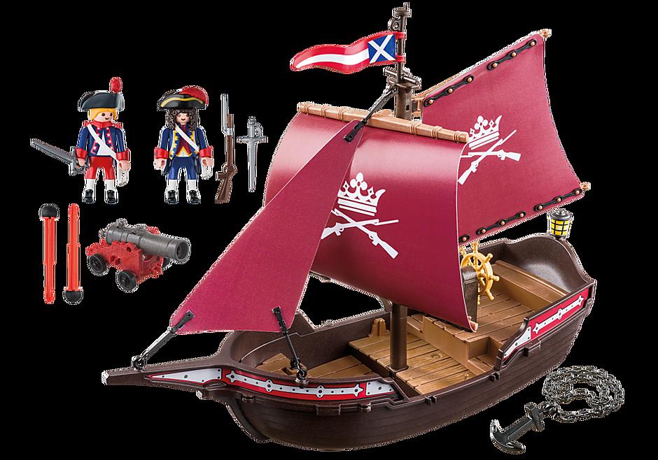 6681 Soldatenzeilschip met kanonnen detail image 4